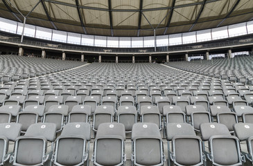 Stadium with empty seat