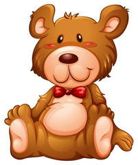 A huggable brown bear