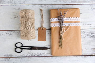 Natural style handcrafted gift box
