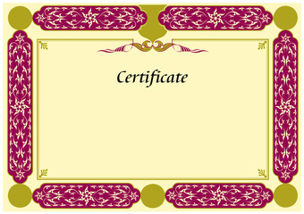 Turkish Certificate Template
