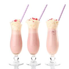 Delicious milkshake isolated on white