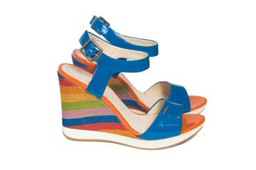 bright platform sandals