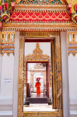 Wat Pho, the Temple of the Reclining Buddha in Bangkok, Thailand