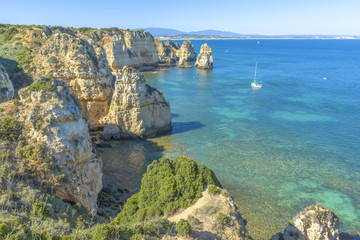 Santa Maria Coast in Lagos, Portugal