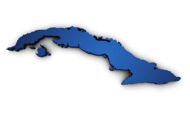 Map Of Cuba 3d Shape