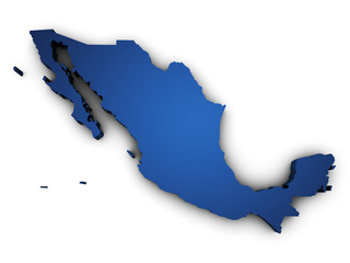 Map Of Mexico 3d Shape