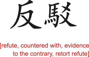 Chinese Sign for refute,countered with,evidence to the contrary