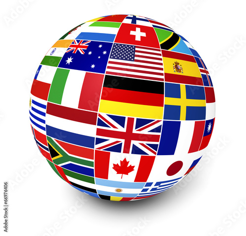 International Business World Flags - 66976406