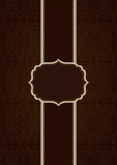 Brown elegant decorative vector background