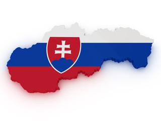 slovakia 3d map