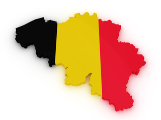 Belgium 3d map
