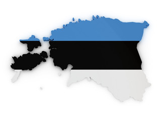 Estonia 3d map