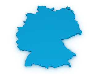 germany 3d map
