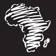 vector drawing map of africa