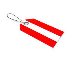 Austria flag label / tag