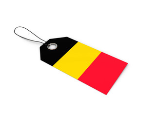 Belgium flag label / tag
