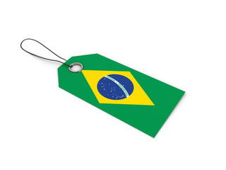 BRAZIL flag label / tag