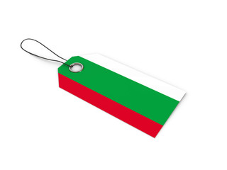 Bulgaria flag label / tag