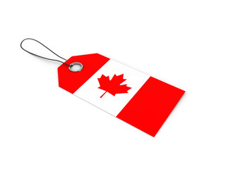 CANADA flag label / tag