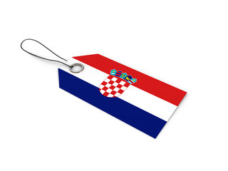 Croatia flag label / tag