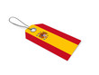 canvas print picture - SPAIN  flag label / tag
