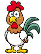 Vector illustration of Cartoon Chicken
