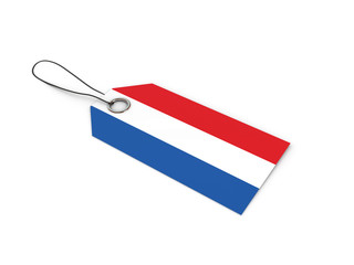 Netherlands flag label / tag