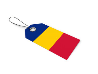 Romania flag label / tag