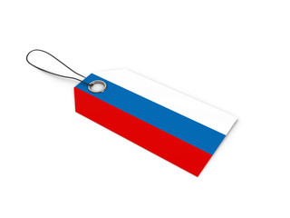 Russia flag label / tag