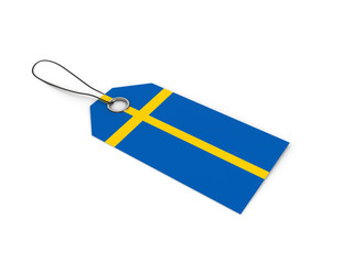 Sweden flag label / tag
