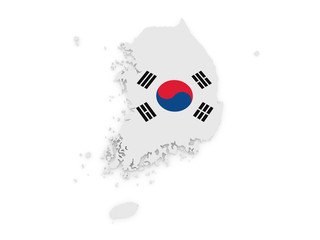 Korea 3d map