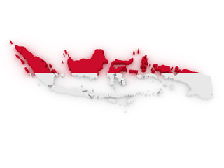 indonesia 3d map