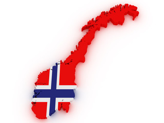 Norway 3d map