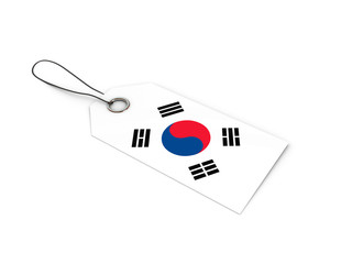 Korea flag label / tag