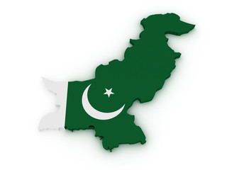 Pakistan 3d map