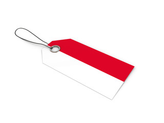 Indonesia flag label / tag