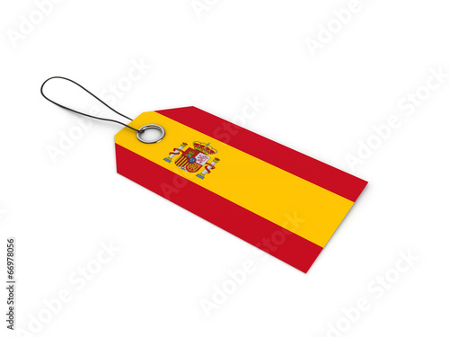 canvas print picture SPAIN  flag label / tag