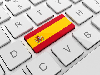 SPAIN flag on keyboard button