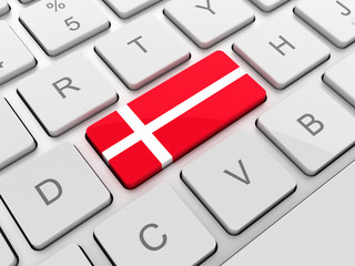 Denmark flag on keyboard button