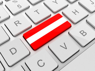 Latvia flag on keyboard button