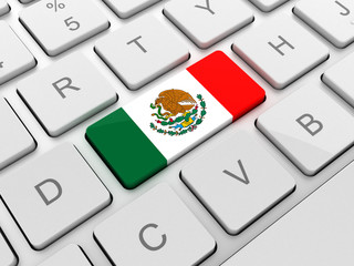Mexico flag on keyboard button