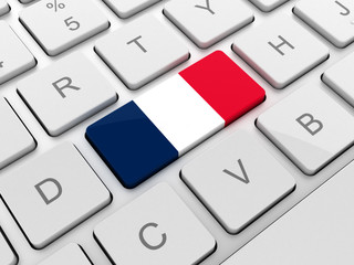 France flag on keyboard button