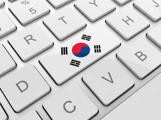 Korea flag on keyboard button