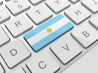 Argentina flag on keyboard button
