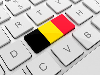 Belgium flag on keyboard button
