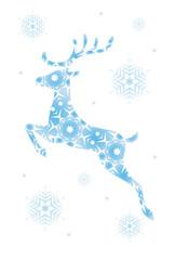 トナカイと雪の結晶