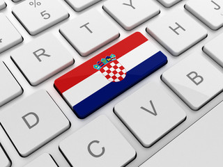 Croatia flag on keyboard button