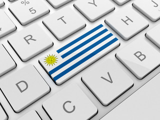 Uruguay flag on keyboard button
