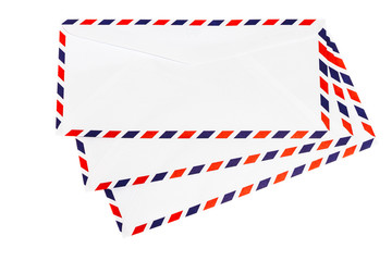 Isolated airmail envelope