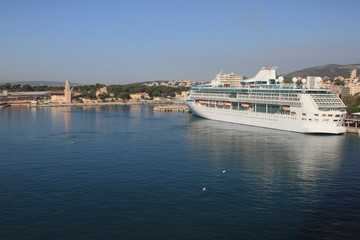 Cruise liner in port. Palma-de-Majorca, Spain